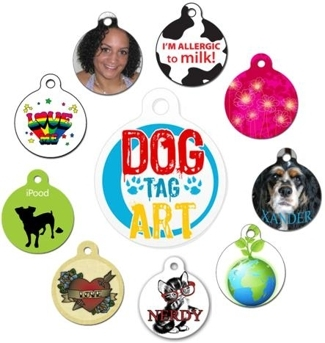 Customizable Pet ID Tags by Dog Tag Art