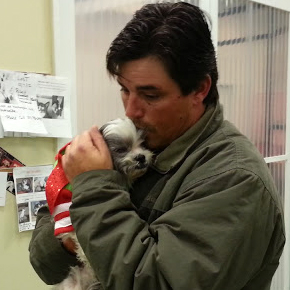 Man reunited with stolen dog after five years