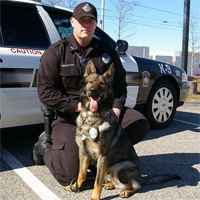 End of watch: Officers salute K-9 on his final journey