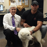 Warzone puppy reunites with soldier who saved him