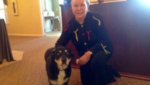 A Senior Home Adopts An Old Dog After Her Resident Owner Passes Away