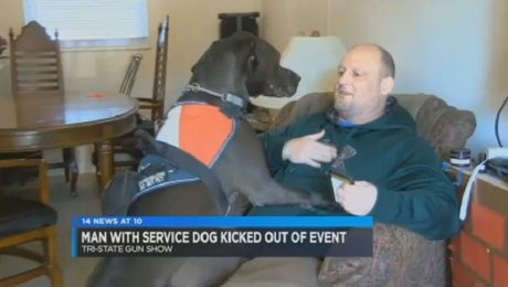 Veteran Asked To Leave Gun Show For Having Service Dog With Him