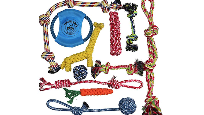 Braided rope chew toys