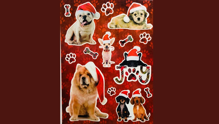 christmas dog decals