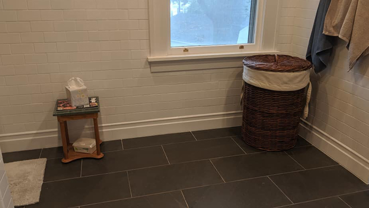 Laundry and small table