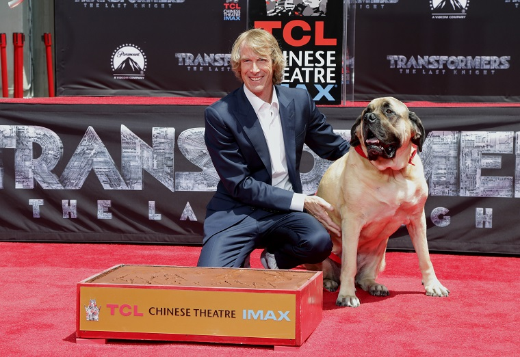 Director Michael Bay And His English Mastiff, Rebel