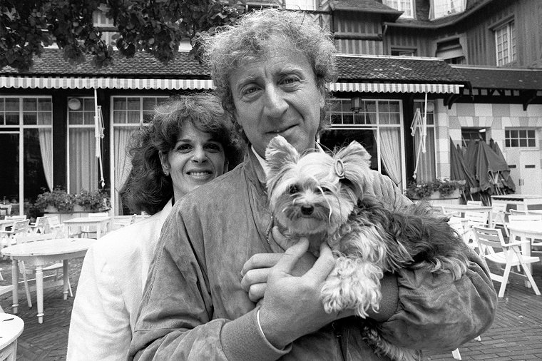 Actor Gene Wilder And His Wife, Gilda Radner, And Their Dog